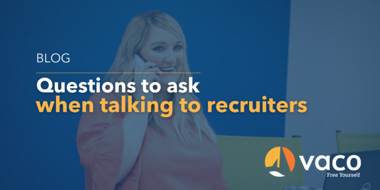 Vaco - Questions to ask recruiters blog graphic