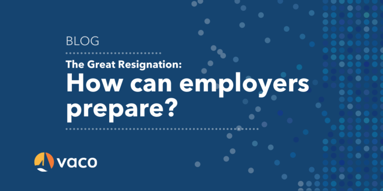 Vaco - The Great Resignation Blog Graphic